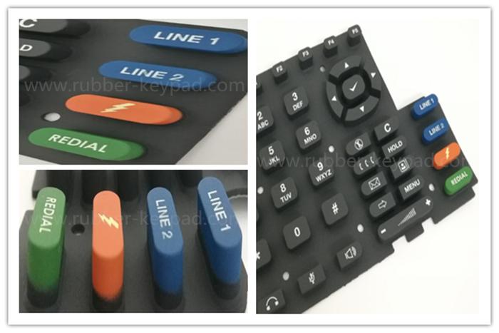 teclado de revestimiento de color