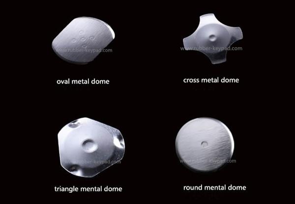 Teclado de cúpula de metal