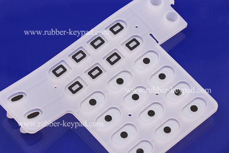 teclado de goma conductora