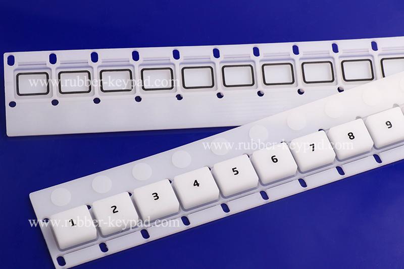 teclado de goma de serigrafía