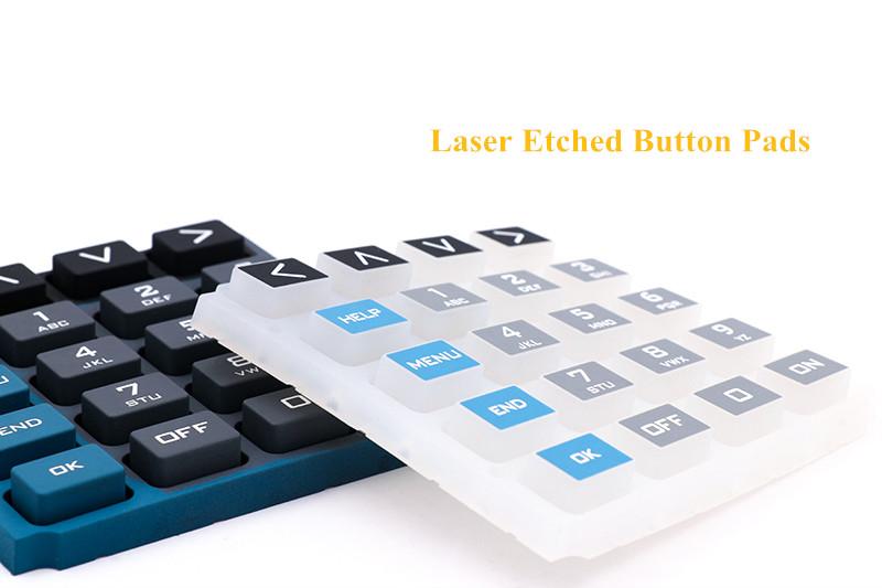 Botones de silicona grabados con láser